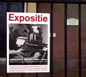 affiche expositie Drukkerij Meijer