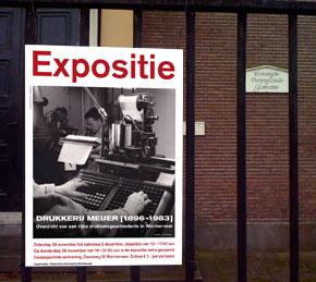 affiche expositie Drukkerij Meijer
